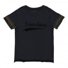T-Shirt Bicolore Sunshine Kita Bleu nuit