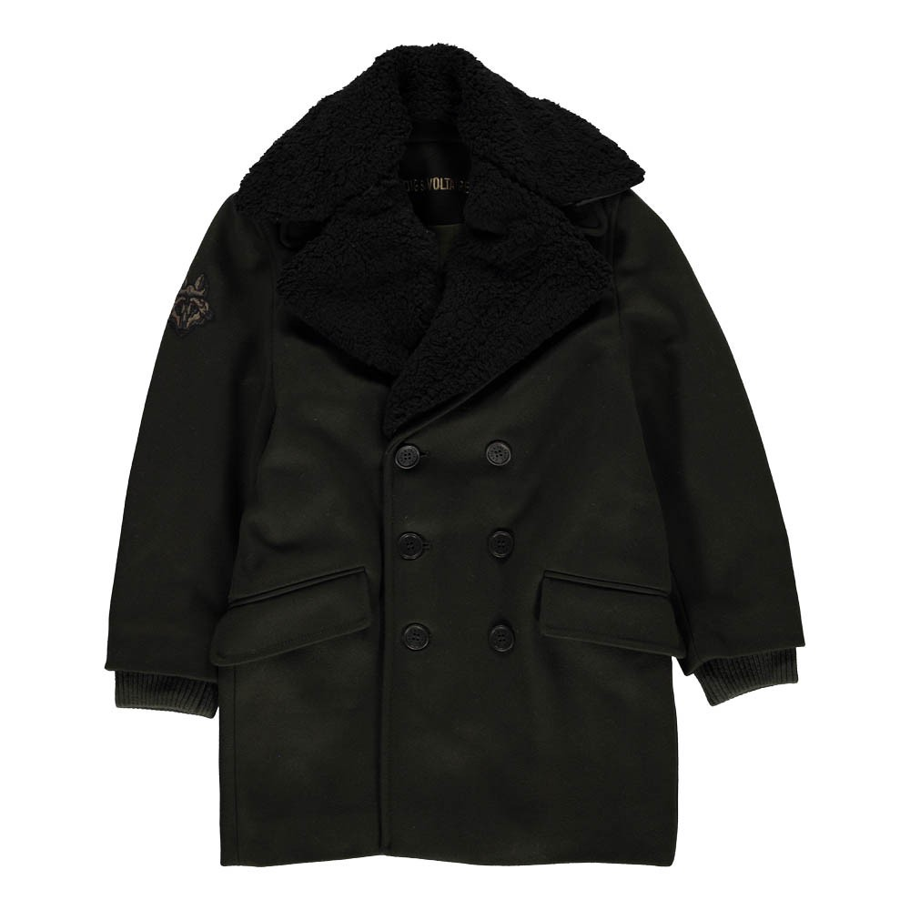manteau col fa on fourrure amovible coat vert kaki zadig voltaire mode ado gar on smallable. Black Bedroom Furniture Sets. Home Design Ideas