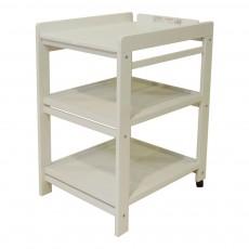 Table à langer Comfort - étagères extractibles Gris clair