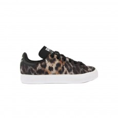 Baskets Lacets Stan Smith Leopard Noir