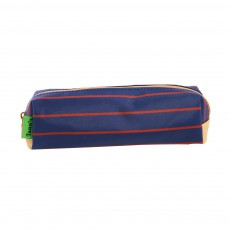 Trousse Simple Heritage Rayures Bleu