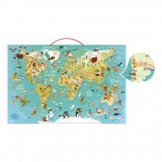 Carte magnétique du monde fantastique