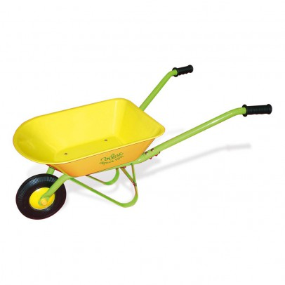 Yellow Metal Wheelbarrow