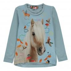 T-Shirt Poney Lola Bleu ciel