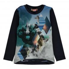 T-Shirt Boy Space Bleu marine