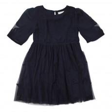 Robe Tulle Etoiles Sally Bleu nuit