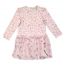 Robe Tulle Imprimé Brillant Primrose Rose pâle