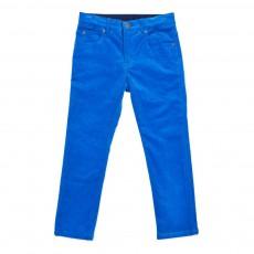 Pantalon Velours Pedro Bleu turquoise