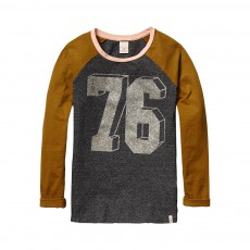 T-Shirt Raglan Bicolore 76 Gris