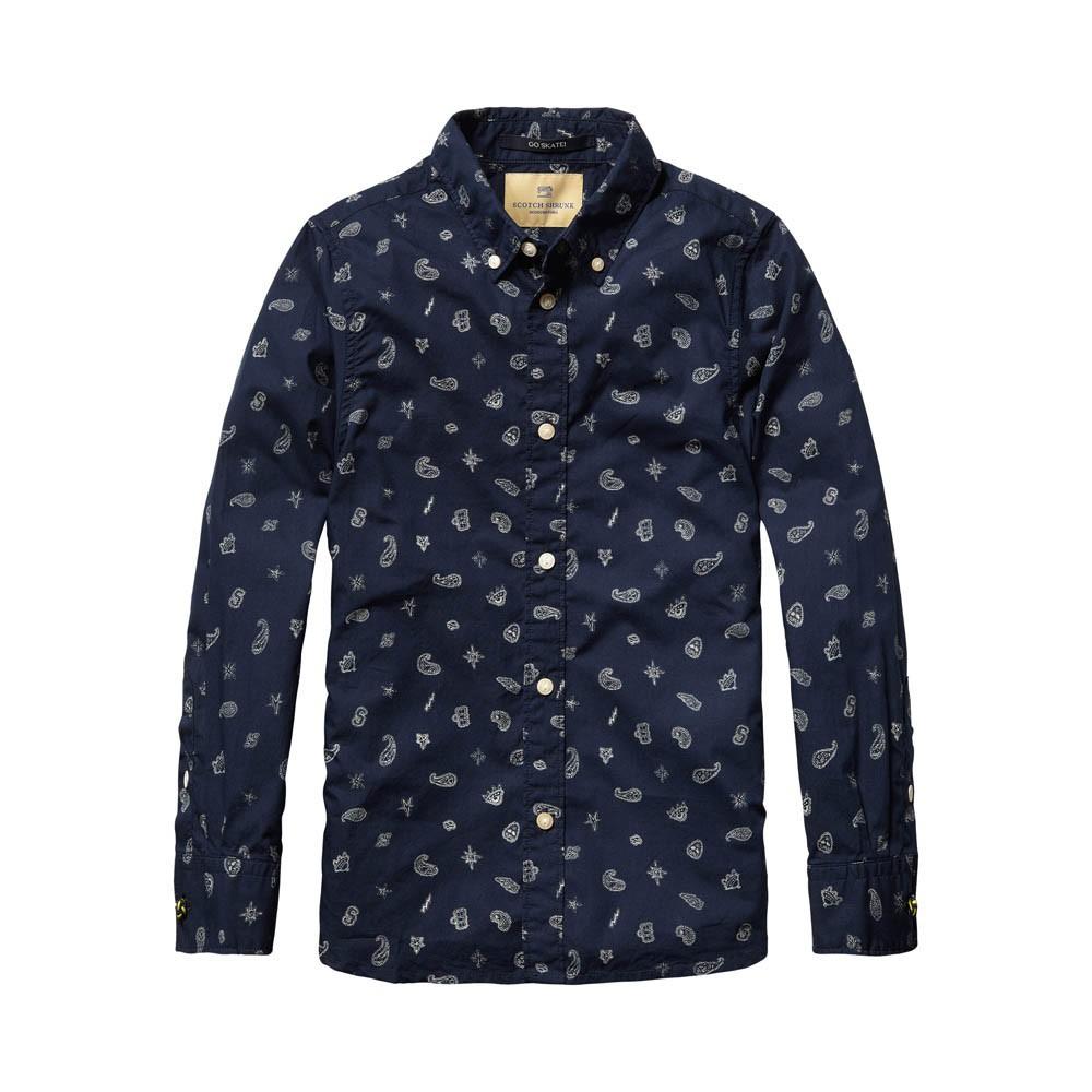 chemise imprim cachemire bleu marine scotch soda mode ado gar on smallable. Black Bedroom Furniture Sets. Home Design Ideas
