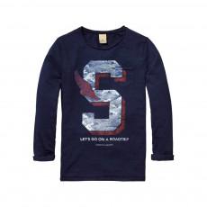 T-Shirt S Bleu indigo