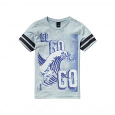T-Shirt Vague Go Go Go Bleu ciel