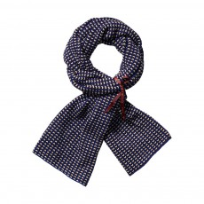 Echarpe Jacquard Bleu marine