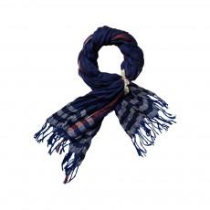 Foulard Carreaux Bleu indigo