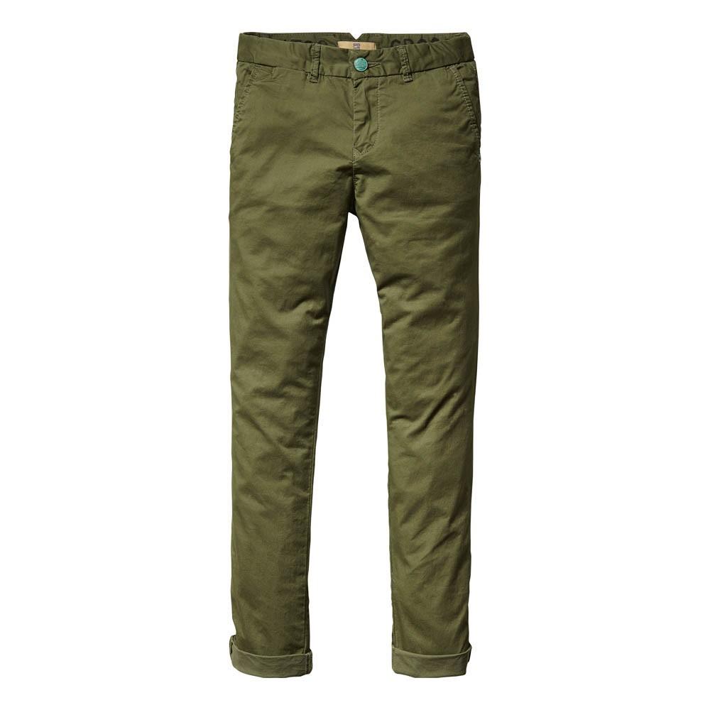 pantalon chino vert kaki scotch soda mode ado gar on smallable. Black Bedroom Furniture Sets. Home Design Ideas