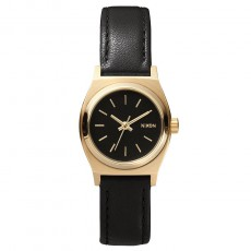 Montre The Small Time Teller Cuir Noir