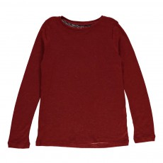T-Shirt Chiné Tencel Laine Rouge brique