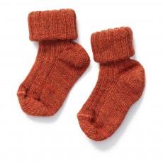 Chaussettes Basses Bébé Rouge brique