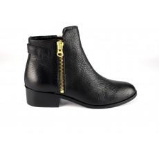Boots Cuir zippée Jazz Noir