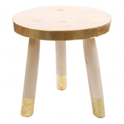 Tabouret rond 3 pieds multicolore honor mobilier smallable - Tabouret 3 pieds ikea ...