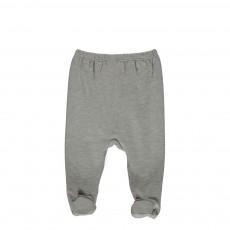 Pantalon Pieds Forbice Gris chiné