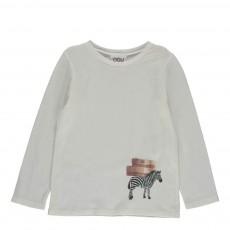 T-shirt Zebra Ecru