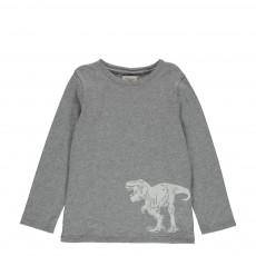 T-shirt Tirannosuro Gris chiné