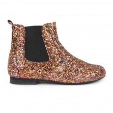 Bottines Paillettes Constance Doré