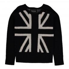 Pull Drapeau Royaume Uni Lucy Noir