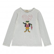 T-Shirt Miss Frog Cœurs Blanc