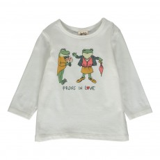 T-Shirt Frogs In Love Blanc