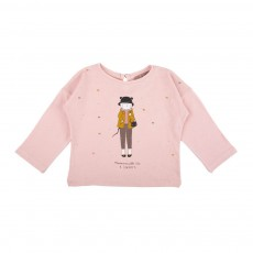 T-Shirt Mademoiselle Ida Londres Rose pâle