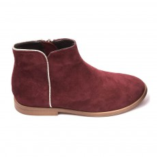 Boots Liseré Argenté Ida Bordeaux