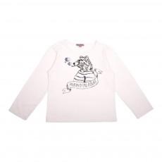 T-Shirt Ours Marin Blanc cassé