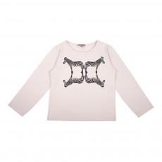 T-Shirt Zèbre Miroir Gris clair