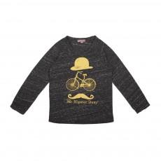 T-Shirt Chiné Hipsterdam Noir