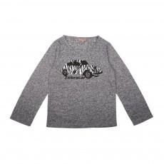 T-Shirt Voiture Zébrée Gris chiné