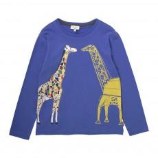 T-shirt Girafe Jiraffe Bleu