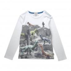 T-shirt Dinosaures Jainosaurus Blanc