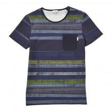 T-shirt Pneus Jibran Bleu nuit