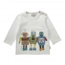 T-shirt Robots Jethro Blanc