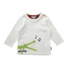 T-shirt Crocodile Jorjo Blanc