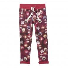 Jogger Fleurs Jally Rouge