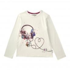 T-shirt Casque Fleurs Jilian Crème
