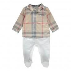 Pyjama Bi-matière Chemise Blanc