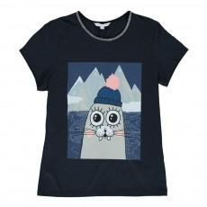 T-shirt Otarie Bleu nuit