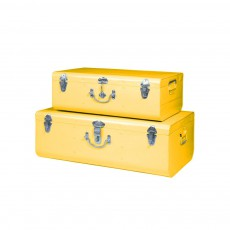 Set de 2 valises métal Miel