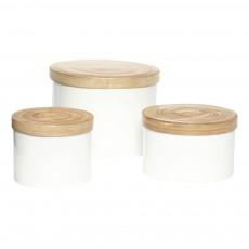 Boîtes de rangement - set de 3 Blanc