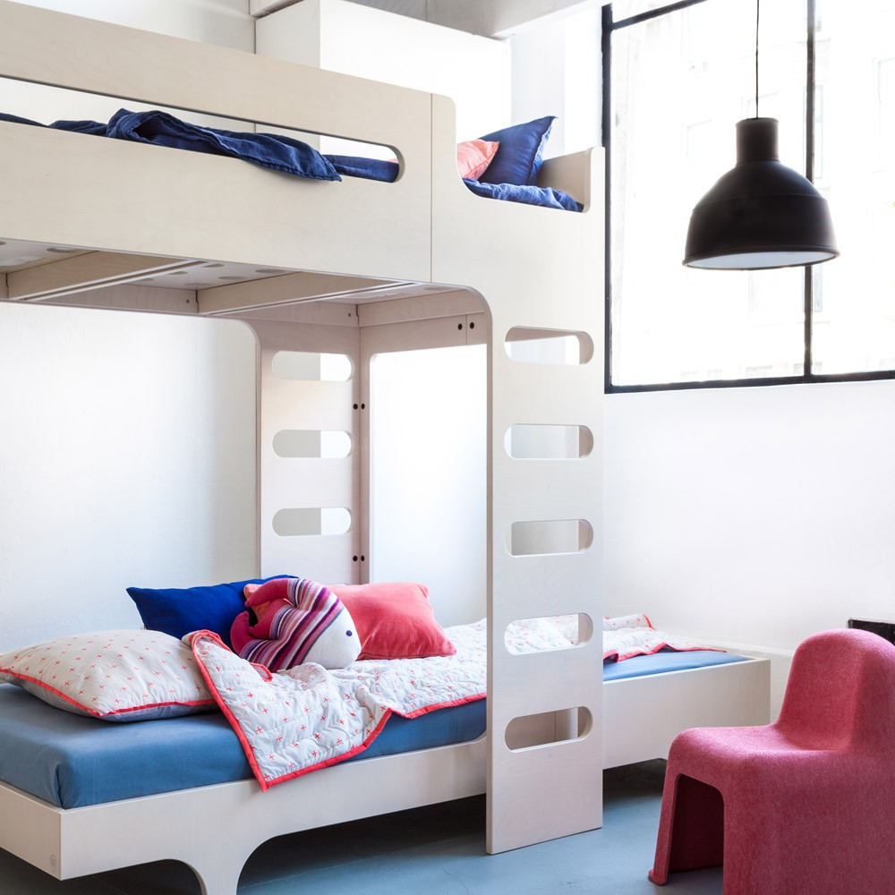 lit mezzanine double chelle funk bed beige c rus rafa kids mobilier smallable. Black Bedroom Furniture Sets. Home Design Ideas