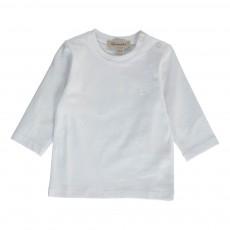 T-shirt Coudières Tartan Bébé Blanc